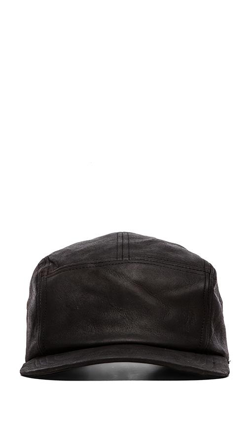 5-Panel Leather Snapback