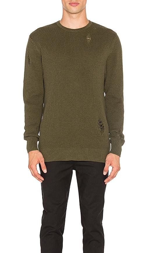 Zanerobe Waffle Knit Sweater in Olive
