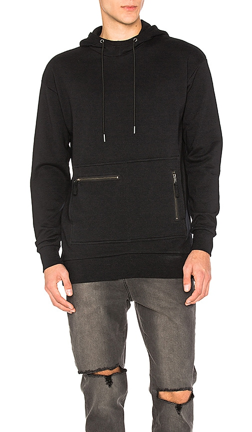 Zanerobe Rugger Hooded Sweatshirt in Black