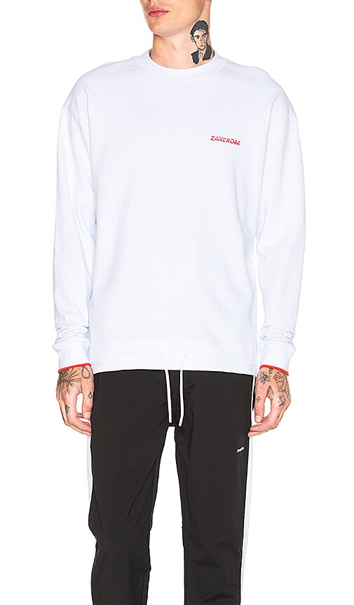 Zanerobe League Box Sweatshirt in White