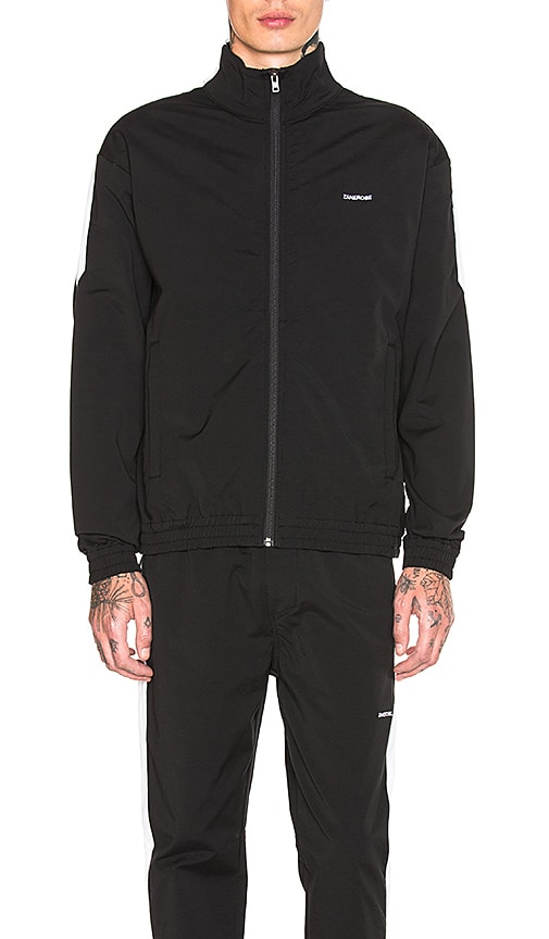 Zanerobe Jumpshot Track Jacket in Black & White