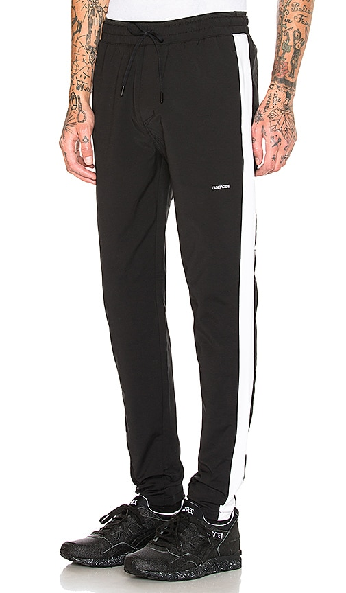 Zanerobe Jumpshot Track Pant in Black & White