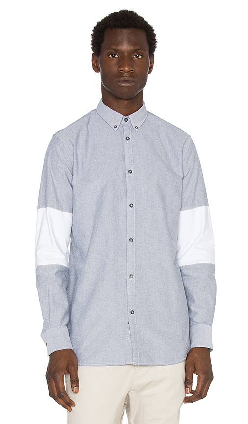 Zanerobe Cutout Seven Foot Shirt in Grey & White