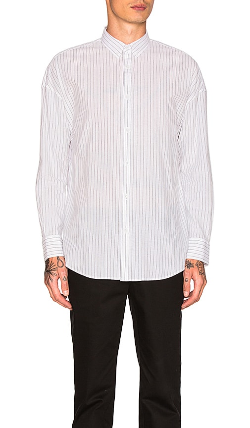 Zanerobe Pinstripe Rugger Shirt in White
