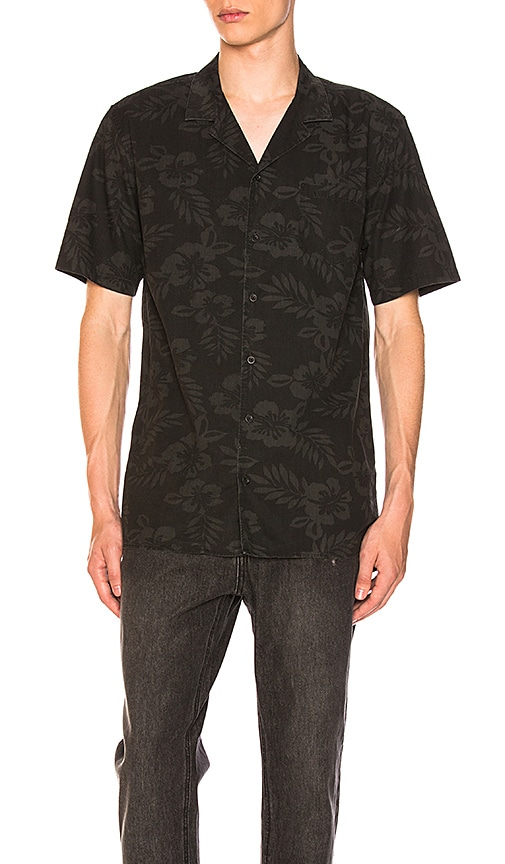 Zanerobe Camper Box Shortsleeve Shirt in Black
