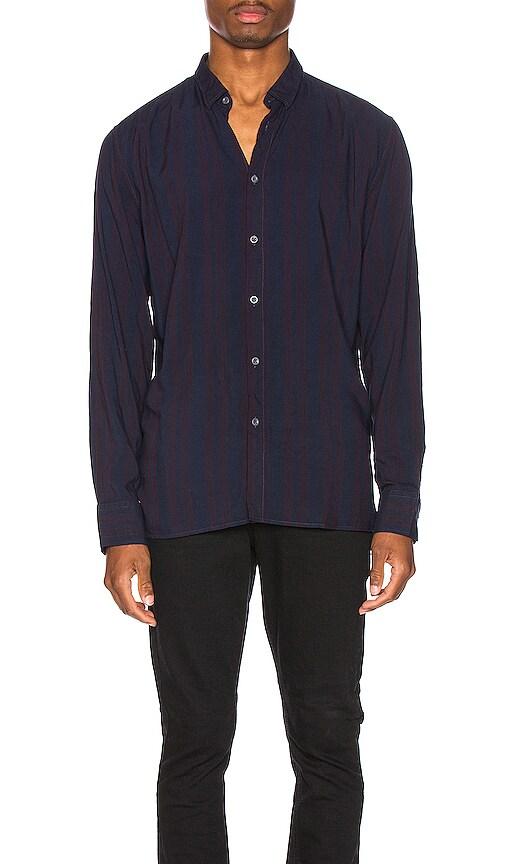 Stripe Rayon Long Sleeve Shirt
