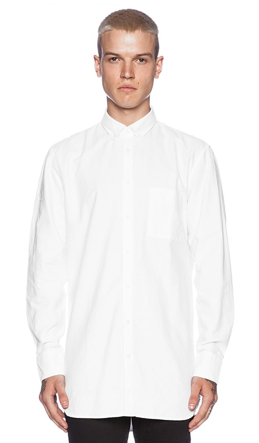 Zanerobe Eight Foot Shirt in White Oxford