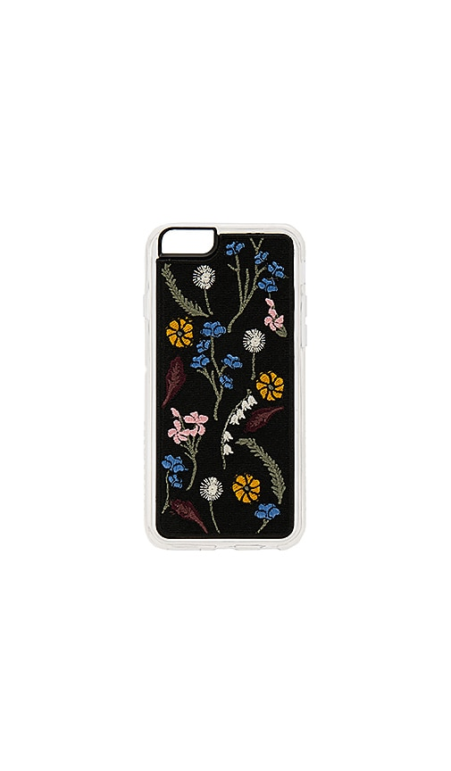 ZERO GRAVITY Gather Embroidered iPhone 6/6S Case in Black