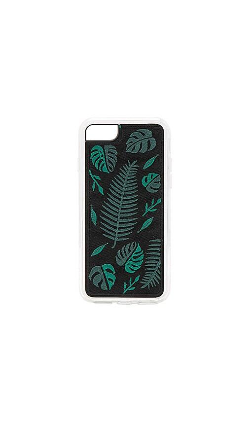 ZERO GRAVITY Fern Embroidered iPhone 6/7 Case in Black