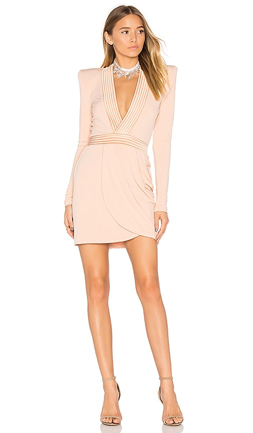 Zhivago Eye of Horus Mini Dress in Blush