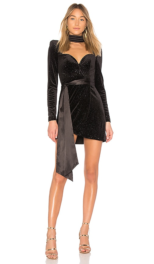 Zhivago X REVOLVE Glitter Velvet Dress in Black
