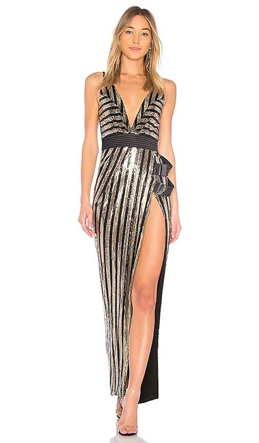Zhivago Do or Die Gown in Black & Gold   REVOLVE