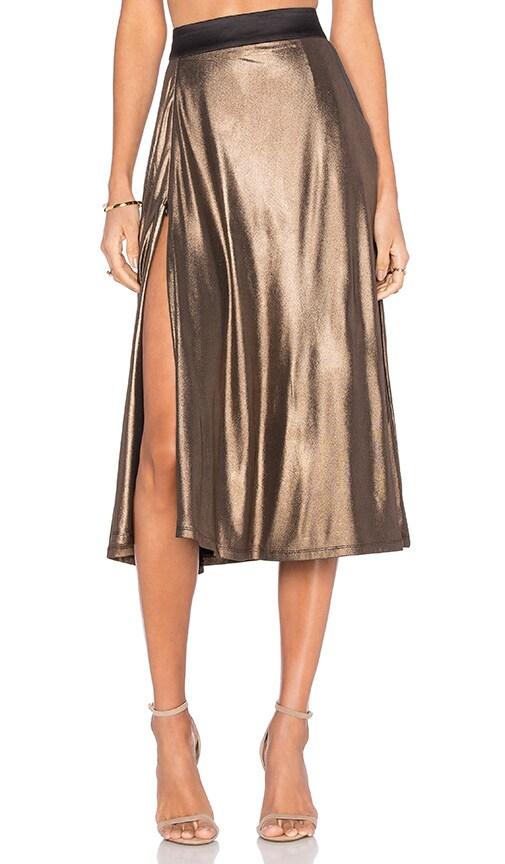 Zhivago Espionage Skirt in Metallic Gold