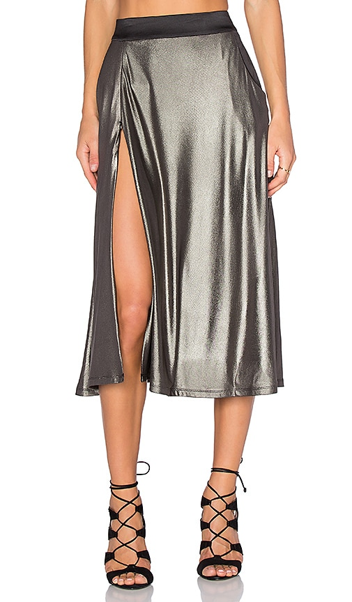 Zhivago Espionage Skirt in Metallic Silver