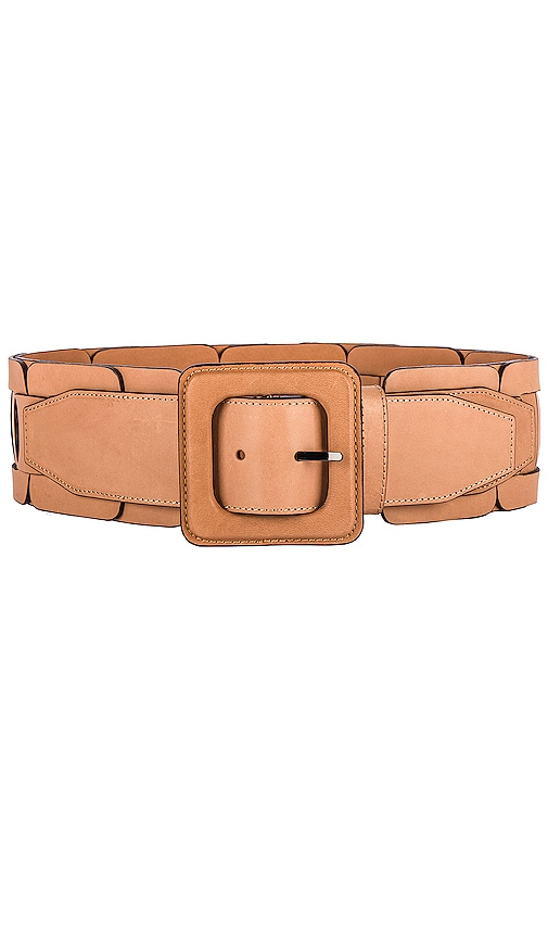 Square Link Wide Waist Belt