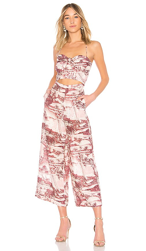 17496162cd1 Zimmermann Tie Front Jumpsuit in Hawaiian Print