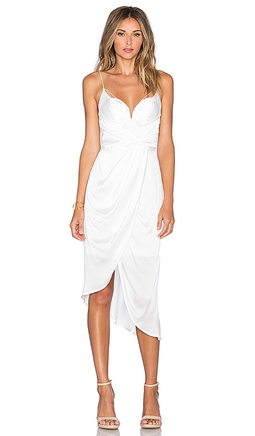 Zimmermann Sueded Balconette Dress in White