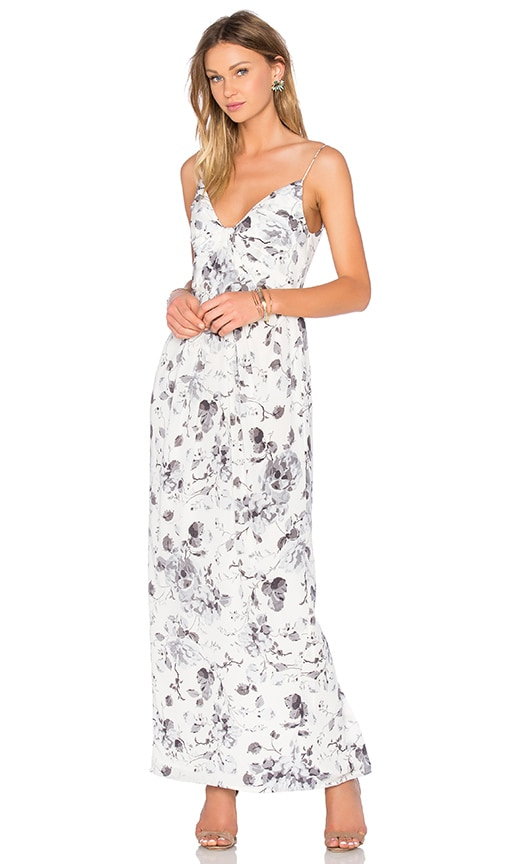 Zimmermann Long Silk Folded Dress in Floral