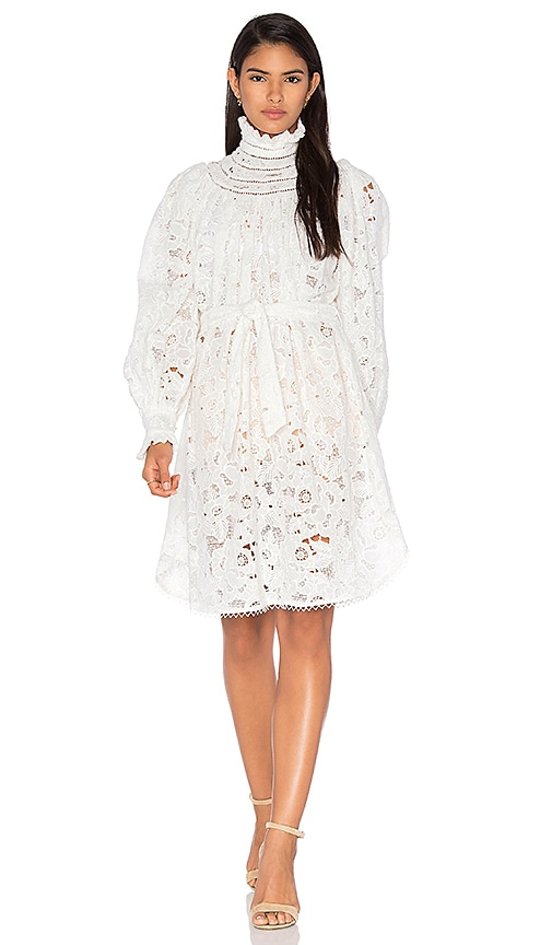 Zimmermann Master Chemisette Tunic in Pearl
