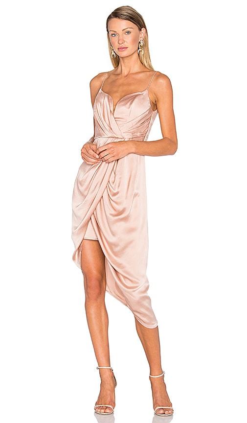 Sueded Silk Plunge Short Dress