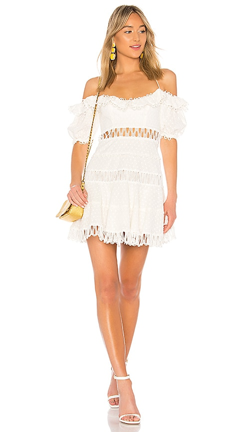 4cb4c0b4ab834a Zimmermann Melody Off The Shoulder Dress in Ivory