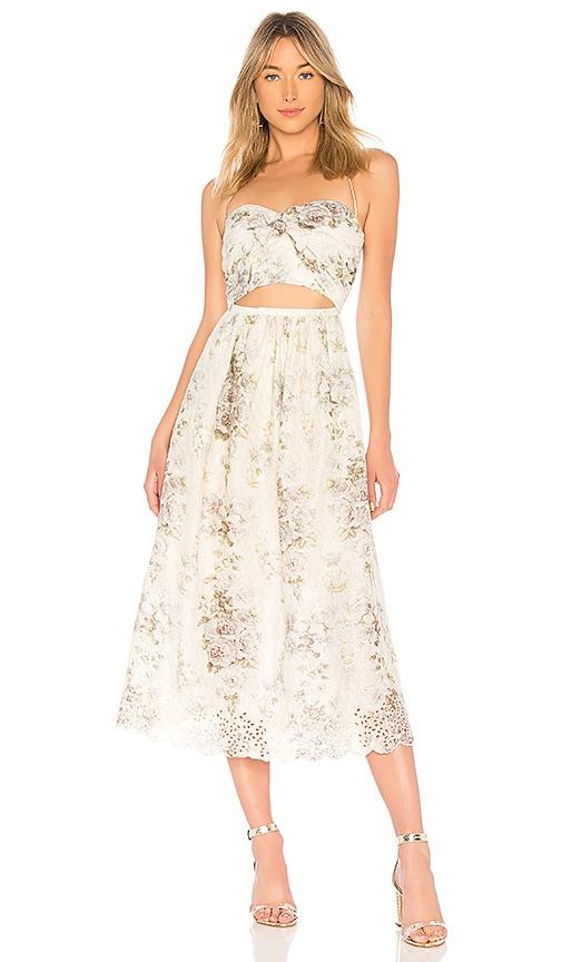 Zimmermann Iris Picnic Dress in Cream
