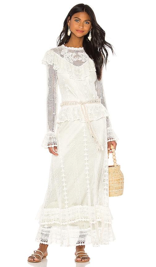 Zimmermann Allia Crochet Maxi Dress in Ivory | REVOLVE