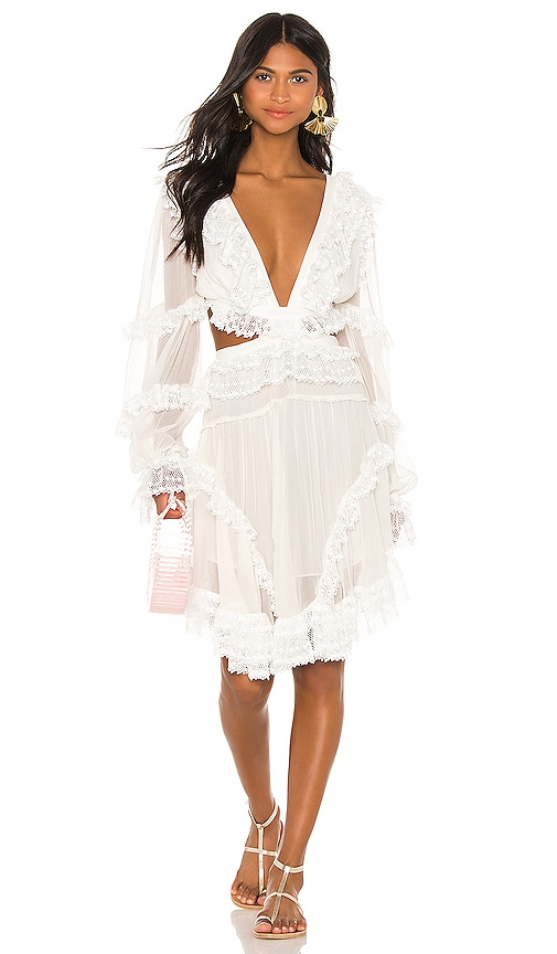 Zimmermann Suraya Cut Out Dress in Ivory | REVOLVE