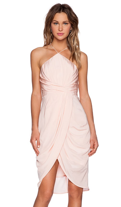 Zimmermann Tuck Dress in Peach