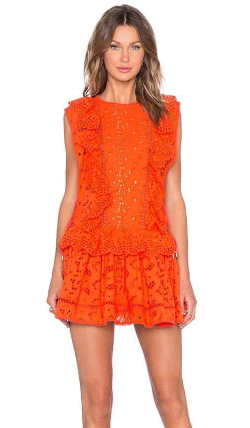 919c73bf6ce Zimmermann Marisol Eyelet Dress in Tomato