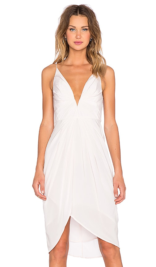 Zimmermann Silk V Tuck Dress in Blush