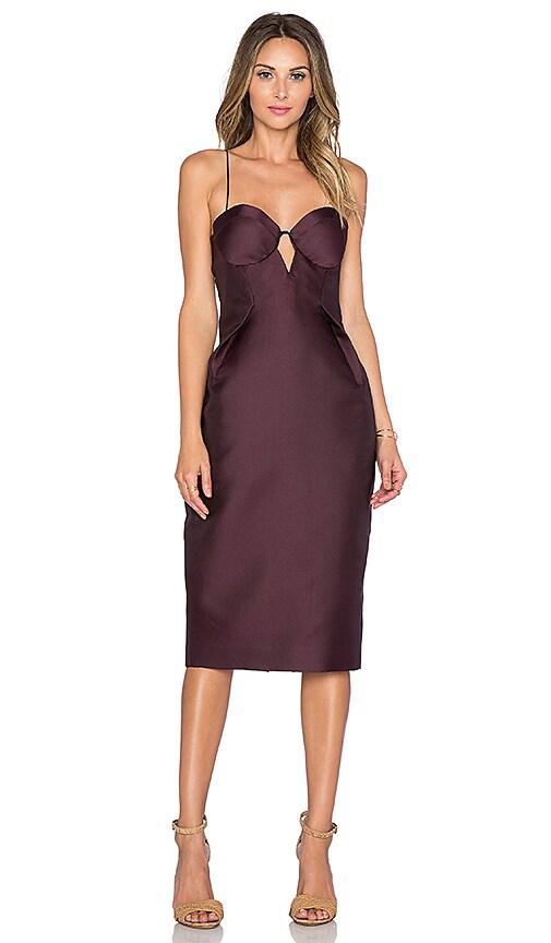 Zimmermann Rhythm Sateen Lift Dress in Purple