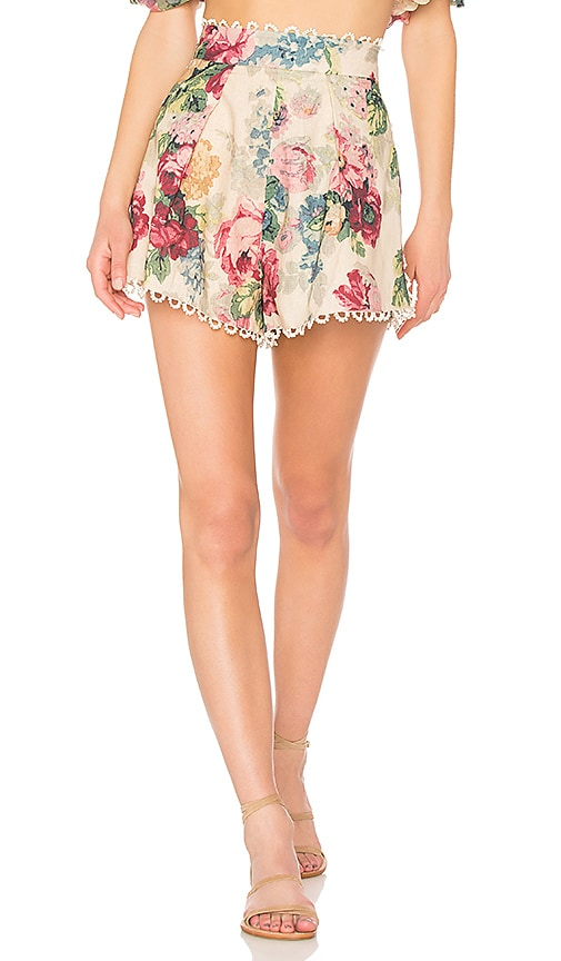 Zimmermann Melody High Waisted Short in Cream