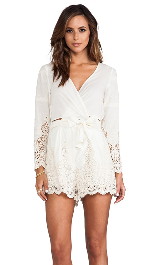 Keeper Broidery Wrap Playsuit