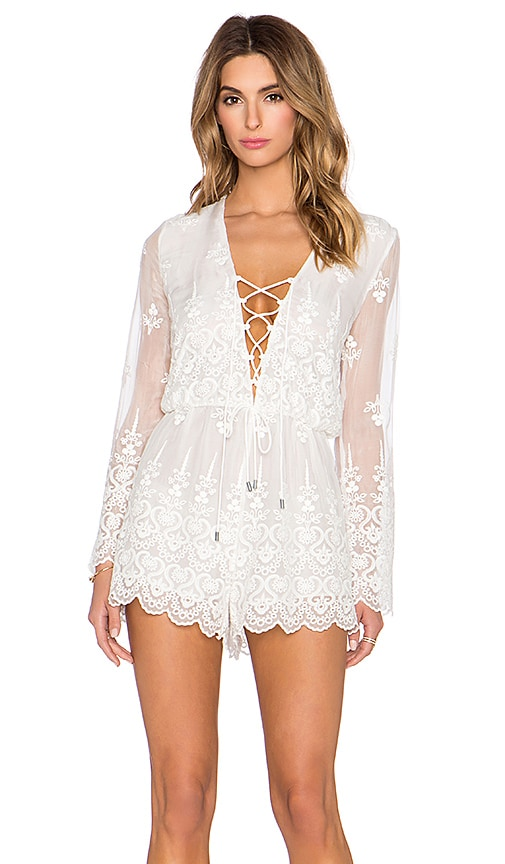 a16c06d4e942 Zimmermann Lucia Silk Embroidered Romper in Ivory