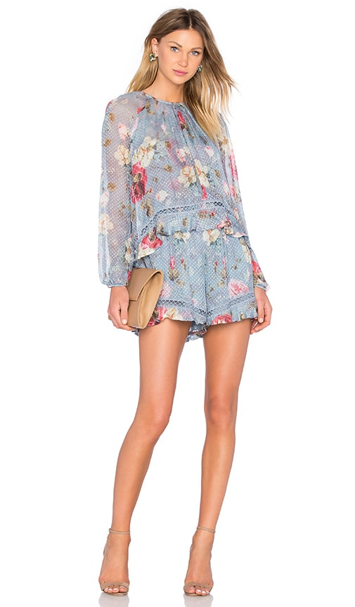 91c78744e77 Zimmermann Havoc Floating Layer Playsuit in Floral