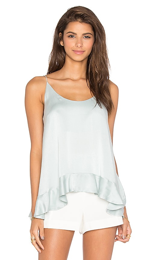 Zimmermann Sueded Silk Floating Cami in Sage