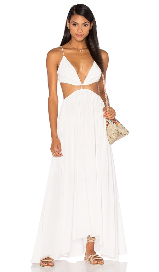 Zimmermann Chroma Cut Out Maxi Dress in White