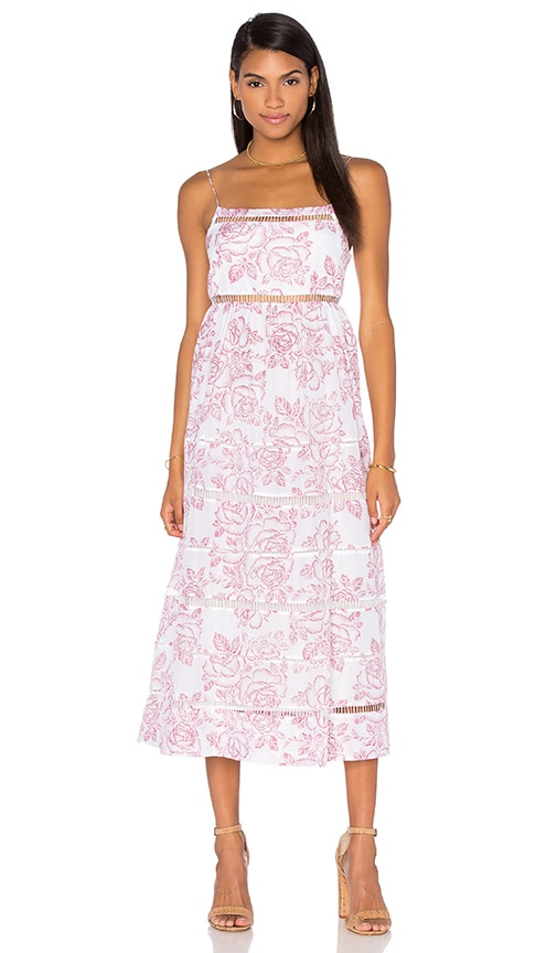 Zimmermann Roza Ladder Strap Maxi Dress in Pink