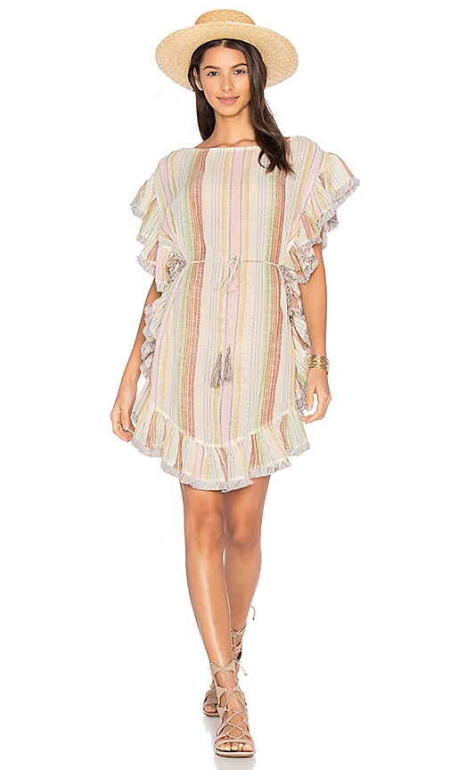 Zimmermann Tropicale Flutter Fringe Dress in White