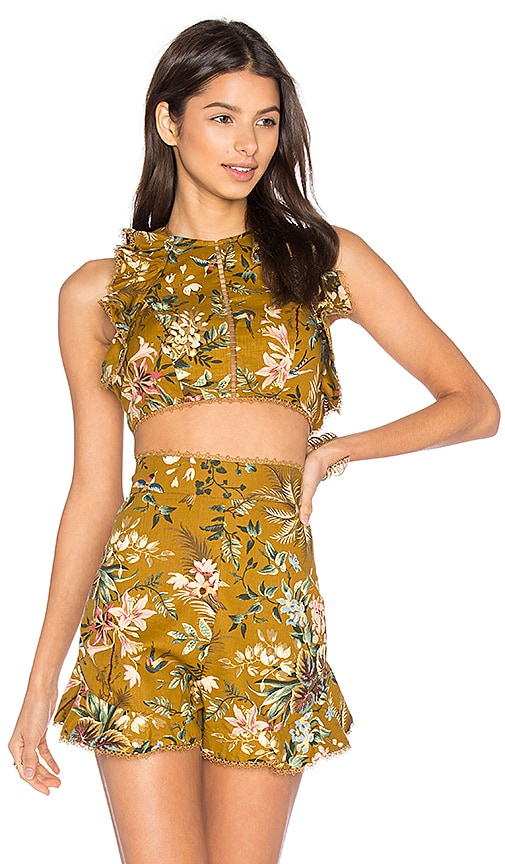 Zimmermann Tropicale Flutter Tank in Yellow