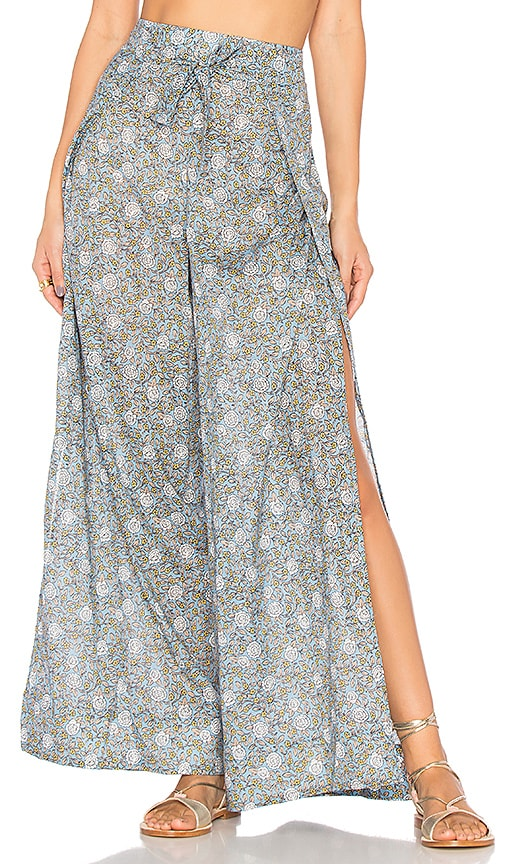 Zimmermann Caravan Split Pant in Blue