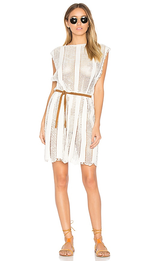 Zimmermann Caravan Crochet Dress in White