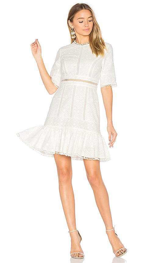 Zimmermann Caravan Embroidered Flip Dress in White