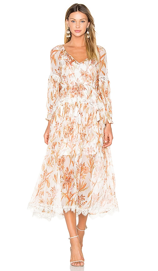 Zimmermann Oleander Crinkle Slouch Dress in White