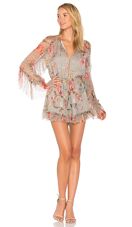 Zimmermann Mercer Floating Romper in Blue