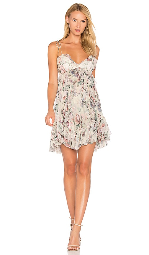 Zimmermann Jasper Floral Dress in White