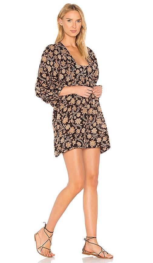 Zimmermann Tulsi Floral Dress in Black