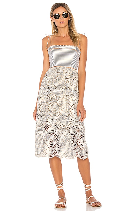 Zimmermann Meridian Stripe Sun Dress in Blue