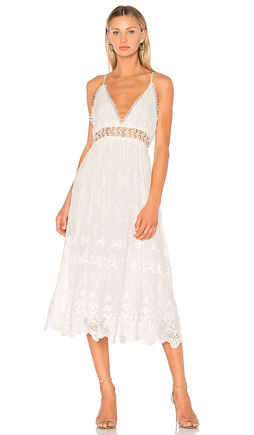 Zimmermann Curacao Crinkle Dress in White